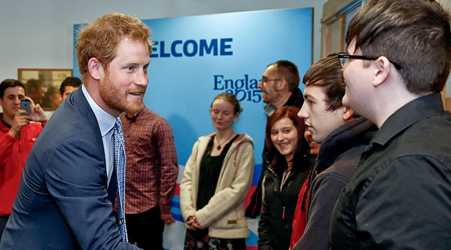 Prince Harry meets successful graduates of REEP skills programme, October 2015